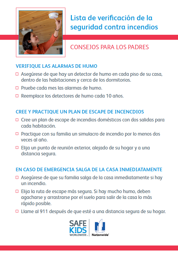 2016 Fire Safety Checklist - Spanish