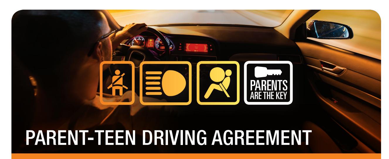 Parent Teen Driver Agreement Safe Kids Worldwide