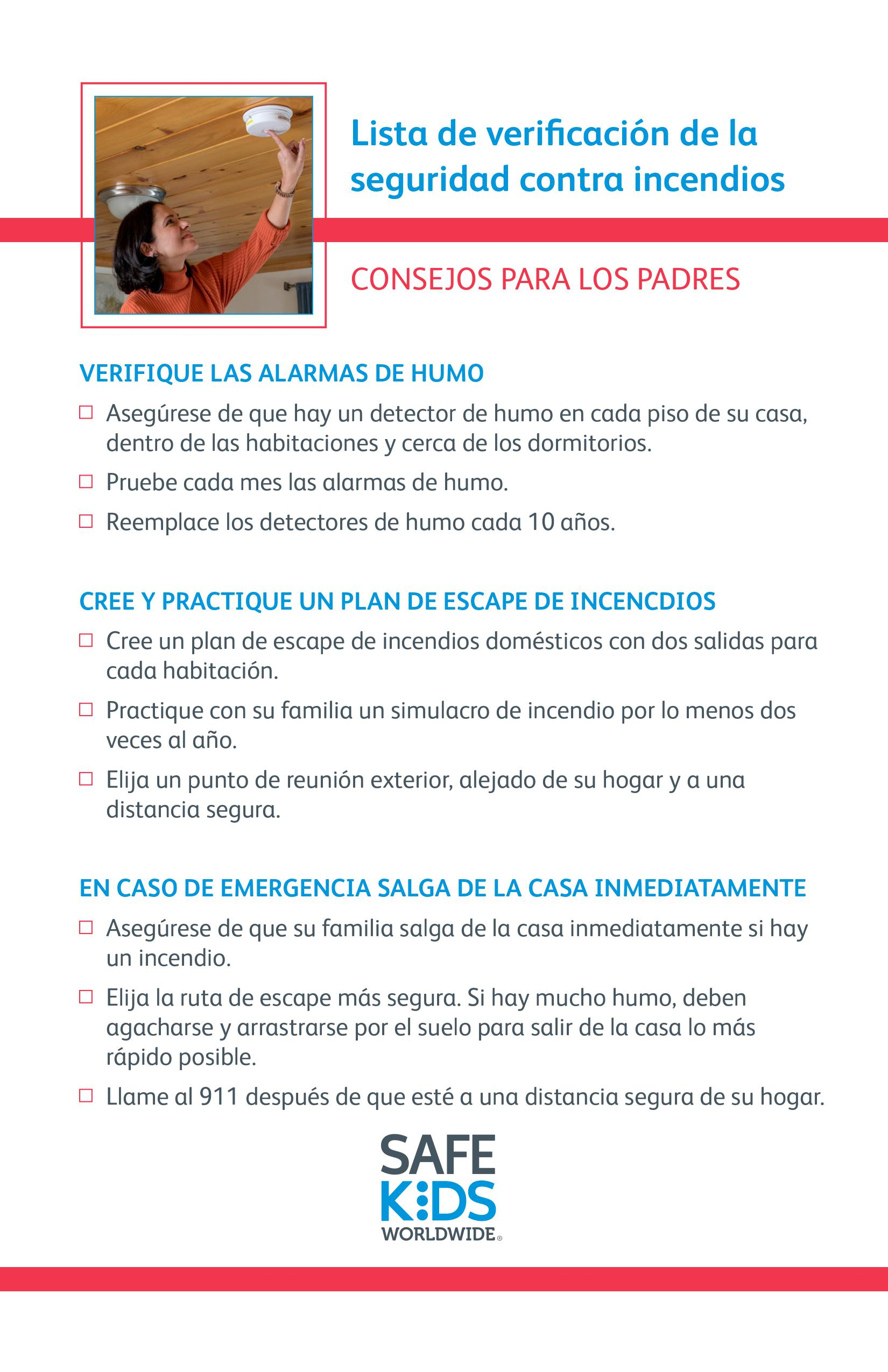 Fire Safety Checklist - Spanish