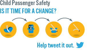 click to tweet about keeping   kids safe in cars