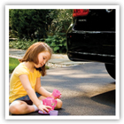 Keep your big kid safe in and around cars - read our tips below.