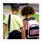 Little kids are at great risk for pedestrian injuries.  Teach them to walk safely