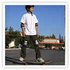 Learn tips to keep your child safe as they skate or skateboard