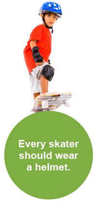 Every skater should wear a helmet