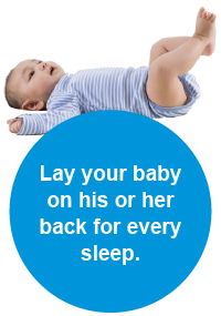 Lay your baby on his or her back for every sleep.