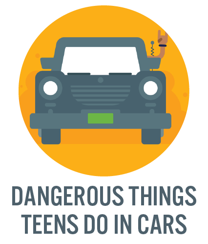 Dangerous things teens do in cars