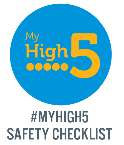 My high 5 safety checklist