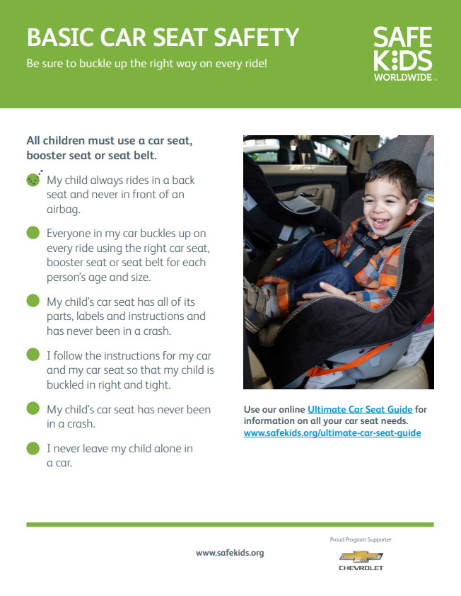 Basic Car Seat Safety Checklist | Safe Kids