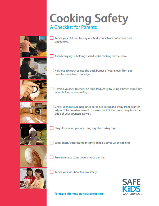 cooking safety checklist