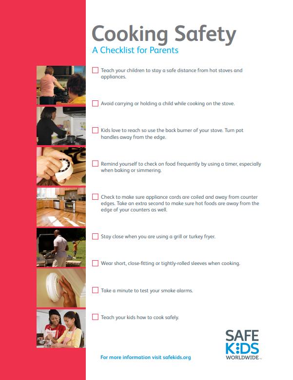 cooking safety checklist