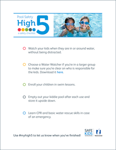 Download the Pool MyHigh5 CheckList