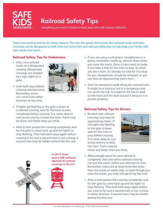 Railroad Tip Sheet