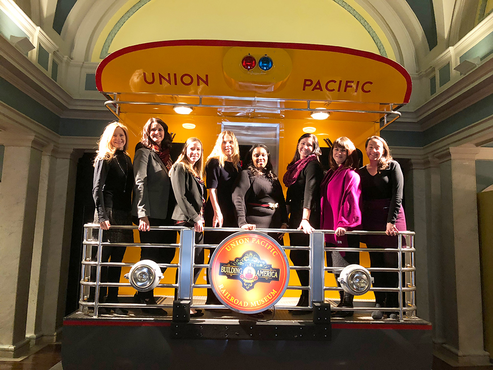 Safe Kids and Union Pacific staff meet.