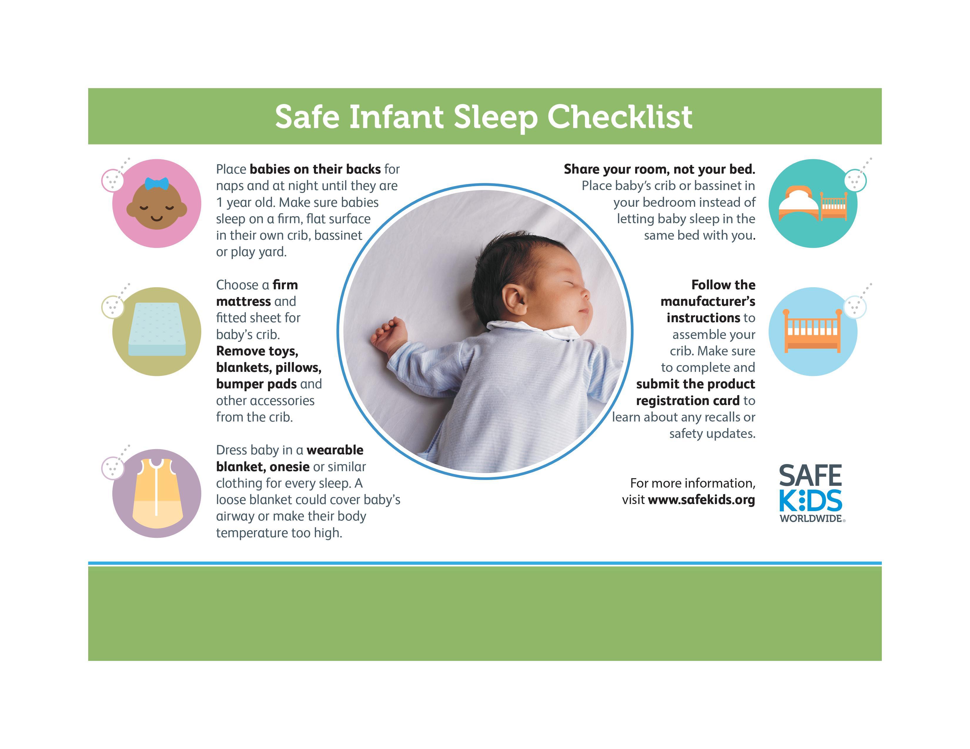 Infant Sleep Checklist graphic