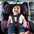 cute kid in rear-facing car seat