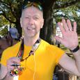 Doug Myers runs in the Marine Corp Marathon for Safe Kids