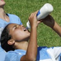 Drink plenty of water while playing sports