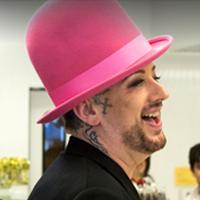 Boy George at See's Candy