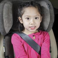 girl in booster seat