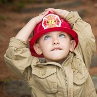 Firefighter boy