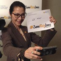 Michelle Yeoh takes a #Safie