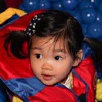 Little girl at Safe Kids Day New York