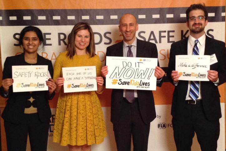 Staff from Safe Kids Worldwide pose for a #safie.