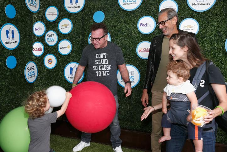 Tom Arnold and Jeff Goldblum at Safe Kids Day 2016