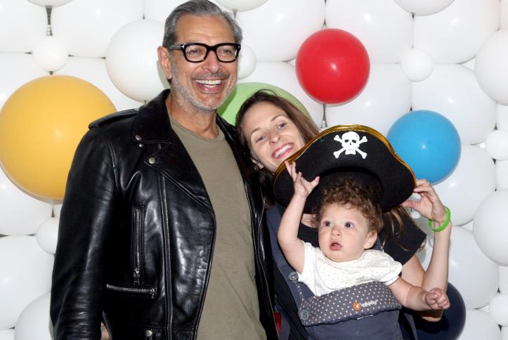 Jeff Goldblum and family at Safe Kids Day 2016