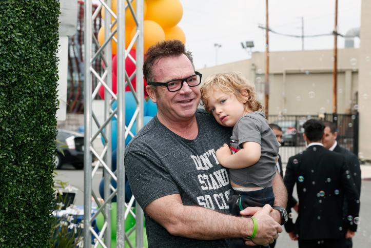 Tom Arnold and family at Safe Kids Day 2016