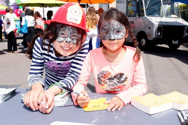 Kids enjoying Safe Kids Day 2016.