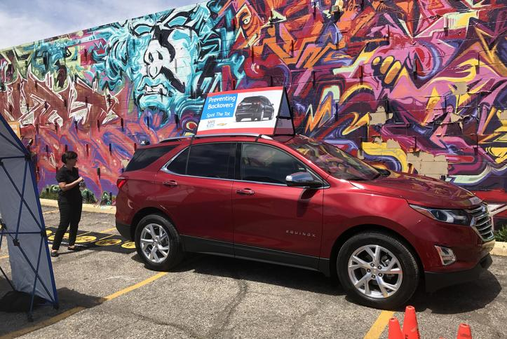 The Chevrolet Equinox on display at the GM Detroit Checkup Event