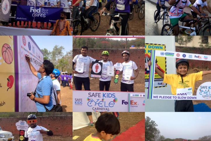 Examples of the great work from Safe Kids Foundation for Global Road Safety Week 2017