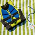 A life vest and a water watcher card.