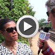 Gary visit a train station to ask passengers about their railroad safety.