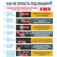 2016 Flat Pedestrian Infographic - Russian
