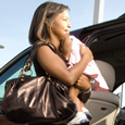 Leaving a child alone in a car can lead to heatstroke