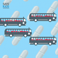 Image of 4 Buses Equaling Amount of Child Sent to ER Daily For Medication/Poisoning Injury