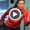 Ali Krieger demonstrates ACL exercises