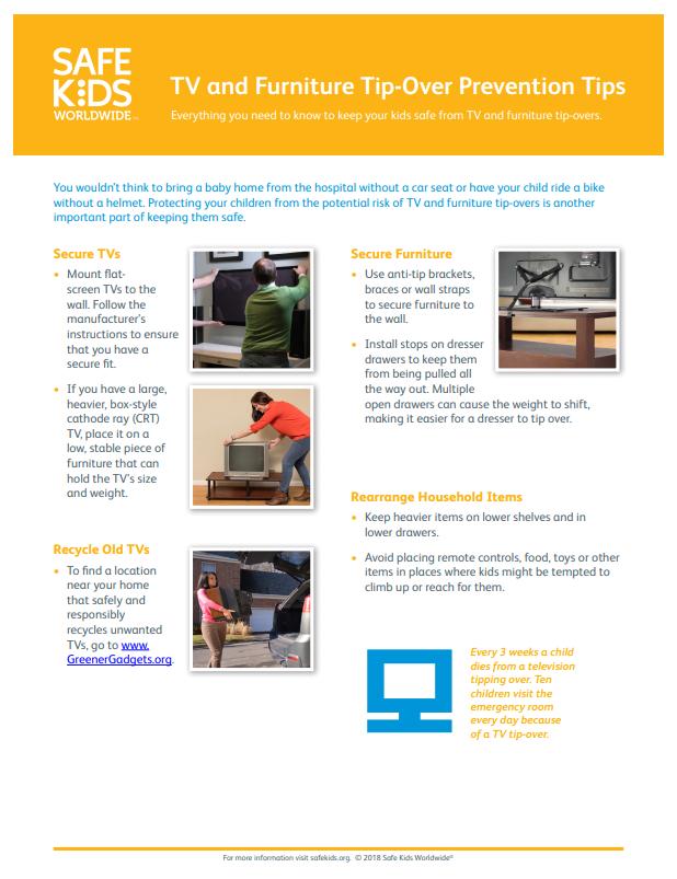 TV and Furniture Tip-Over Prevention Tips   Safe Kids Worldwide
