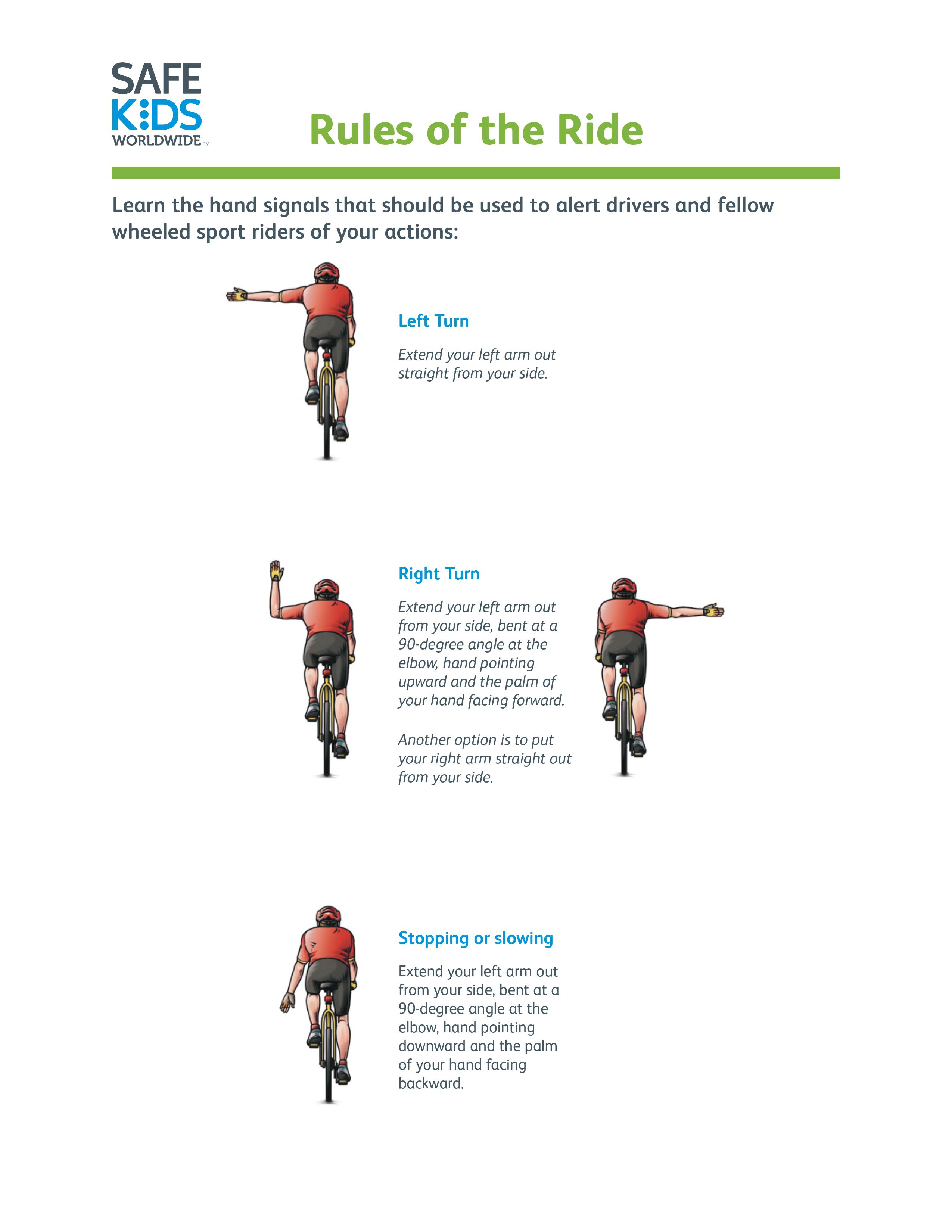 Wheeled Sports Rules of the Road